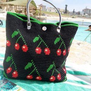 SKIPPING GIRL   Cherry Tote Bag